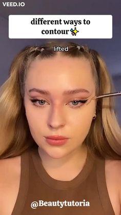 Edgy Makeup, Makeup Eye Looks, Pretty Makeup, Simple Makeup, Natural Makeup, Contour Makeup, Skin Makeup, Eyeshadow Makeup, Contouring