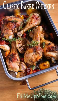 This baked chicken recipe is one of those recipes that every home cook should have in their repertoire. Delicious and very easy!