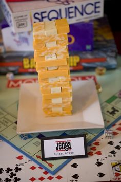 Game Night Ideas for a Birthday Party - DIY Inspired Game Night Ideas for a Birthday Party<br> Game Night Ideas including Party Décor, Easy DIY's, and Food Ideas for a Birthday Party - an original party by Courtney Jacques. Game Night Snacks, Game Night Parties, Casino Theme Parties, Slumber Parties, Monopoly Themed Parties, Adult Game Night Party, Casino Party, Party Snacks, Board Game Themes