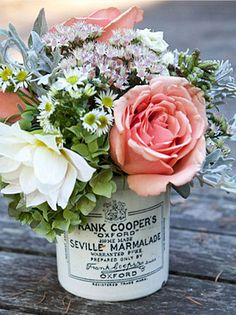 Elegant vintage centerpiece. This page has an eclectic collection of posts, including decorating, wedding bouquets, original art, and even a portrait of Gene Wilder as Willy Wonka made from licorice.