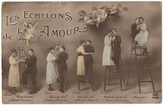 Carte postale ancienne amour