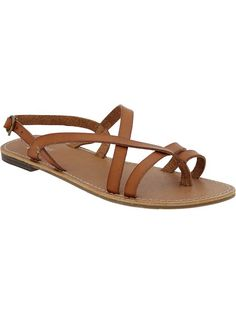 Women's Cross-Front Faux-Leather Sandals Product Image