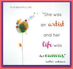 Artist - Life - Canvas