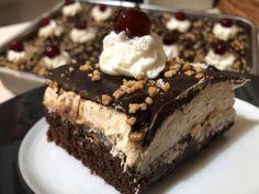 Greek Desserts, Greek Recipes, Greek Pastries, Greek Cooking, Chocolate Sponge, No Bake Cake, Nutella, Dessert Recipes, Food And Drink