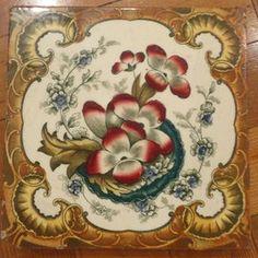 Antique Victorian Ceramic Tile