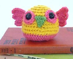 Funky Amigurumi Owl by Wooliesandwhatnots on Etsy, $16.00