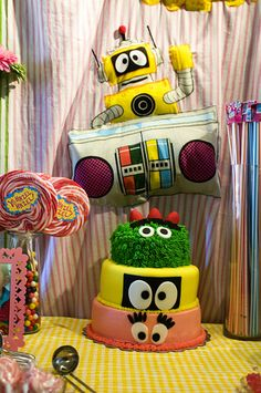 (This would be cute for Sage's bday party. Cassie James)  yo gabba gabba