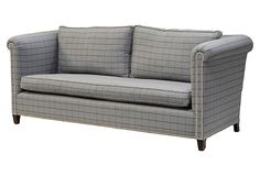 "Barclay Butera Doheny 84"" Sofa, Gray (=)"
