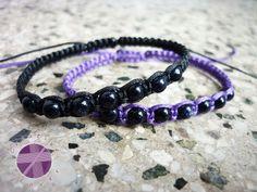 Shamballa bracelet, Blue goldstone, Beaded bracelet, Adjustable, Bracelet for men, Bracelet for women, Crystal bracelet, Macrame shamballa Thread Bracelets, Macrame Bracelets, Gemstone Bracelets, Bracelets For Men, Shambala Bracelet, Amethyst Bracelet, Purple And Black, Blue, Adjustable Bracelet