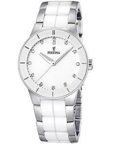 Reloj Festina de mujer blanco en oferta. Descuento del 7%  #relojes #festina