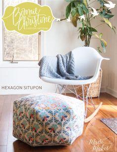 Hexagon Situpon PDF Pattern by Bonnie Christine