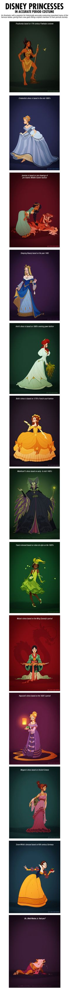 What If Disney Princesses Wore Historically Accurate Outfits? -   Misc