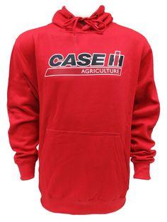 Red `Case IH Agriculture` Logo Pullver Hoodie