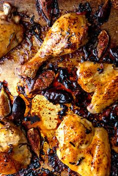 Roasted chicken with figs and rosemary from Melissa Clark. (Photo: Andrew Scrivani for The New York Times)