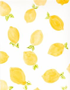 Loving this cheerful lemon print.