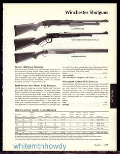 2003 WINCHESTER Camp Defender, New Model 9410 Packer Supreme Sporting Shotgun AD #Weatherby