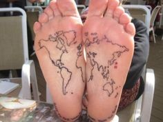 World at the bottom of your feet