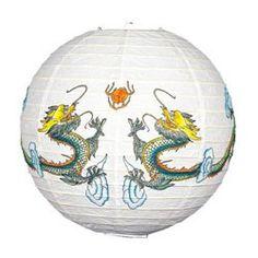 Ninja Chinese Dragon Lanterns - 16in (Each)