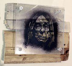 IGGY POP stencil matrix 10x10 cm