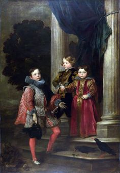 Anthony van Dyck, 'The Balbi Children', ca (painted in Genua) --Art period: Baroque National Gallery London Anthony Van Dyck, Sir Anthony, Anton Van, 17th Century Fashion, 18th Century, Tableaux Vivants, Baroque Painting, National Gallery, Oil Painting Pictures