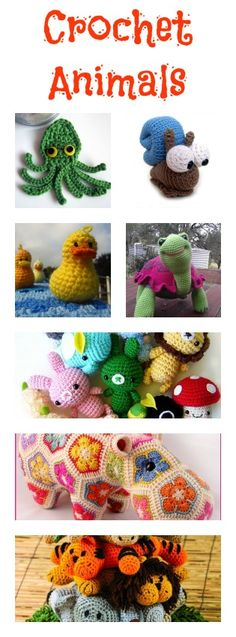 Cute crochet animals! For more crochet ideas, go to http://sussle.org/t/Crochet