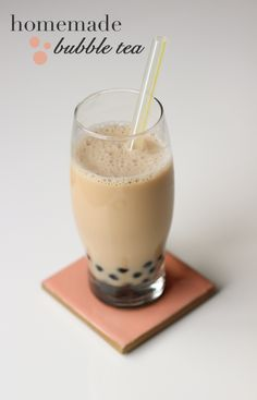how to make homemade bubble tea, boba tea recipe,