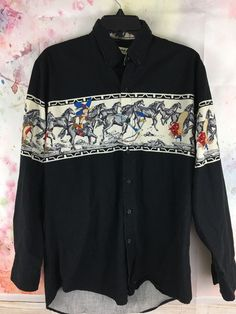 Gold Collection By Karman Vintage Looney Tunes Long Sleeve Button Up Sz M  | eBay
