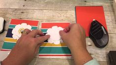 cardmaking video tutorial: Bright Color and White Flower ... Easy Card with a wow factor from the color contrasts ... Stampin' Up!