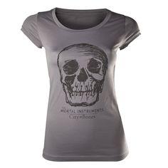 Camiseta chica Cazadores de sombras. Calavera