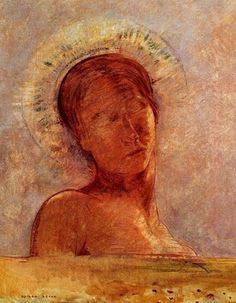 Closed Eyes 1899 Odilon Redon ...he keeps returning to a single theme, for a time, the head with closed eyes, lost in contemplation.