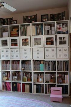 Cube storage. Organización. Cuarto o taller de arte, diseño y costura