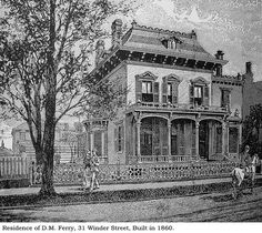 Ferry House, Detroit    Illustration from Silas Farmer's, History of Detroit and Wayne county and early Michigan c. 1890.