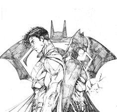 Batman / Superman, by Brett Booth