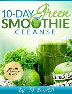 10-Day Green Smoothie Cleanse, Pdf, ePub, Mobi, Download, JJ Smith, 10 Day Green…