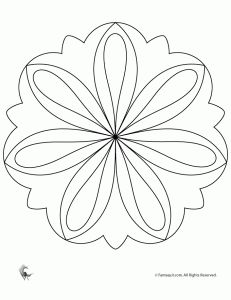 Easy Flower Mandala Coloring Page and others