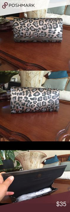 Clutch bag  almost new used once Stunning clutch bag chetah print  Banana Republic Bags Clutches & Wristlets