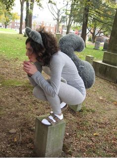Grey squirrel costume for the rocky and bullwinkle idea