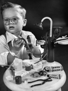 Little Boy with a Toy Dentist Set, 1953, Photo by Walter Sanders
