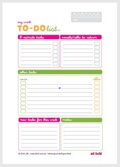 Free Printable To-Do List