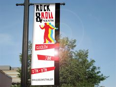 Graphic Design Rock and Roll banner By Ryan