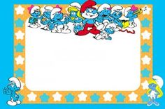 Smurfs Invitation Printable Smurf Birthday Party Invitations With Cake  cakepins.com