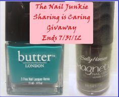 ONE DAY LEFT TO ENTER!!! The Nail Junkie: Sharing is Caring GIVEAWAY!!! *Open Internationally!*