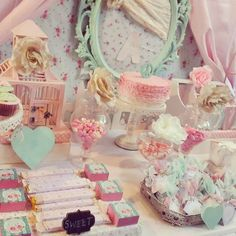 shabby chic party   cake stand