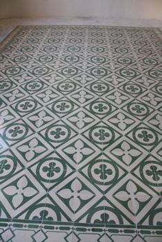 pasta tile floor, merida, yucatan.  We just got some of these for our home! So excited. Not the exact pattern above, but so beautiful to see & so many patterns!