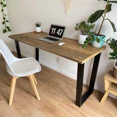 Industrial, rustic reclaimed wood desk
