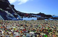 Glass Beach is a unique beach, not because nature made it that way, but because time and the pounding surf have corrected one of man's mistakes.