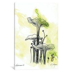 Original Watercolor Painting, Mushroom Line Drawing, Pen and Ink, Pen And Watercolor, Watercolor Paintings, Watercolor Ideas, Watercolours, Art Journal Pages, Ink Illustrations, Illustration Art, Mushroom Paint, Mushroom Drawing