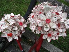 Custom HARRY POTTER Wedding Bouquets. You Pick by TreeTownPaper, $85.00 I need the red one in every color!!!