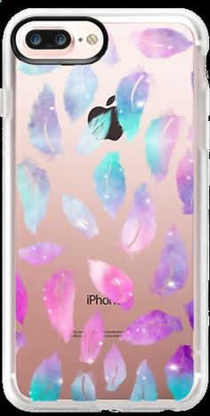 Casetify iPhone 7 Plus Case and iPhone 7 Cases. Other Feather iPhone Covers - Nebula Space Feathers by Girly Trend | Casetify