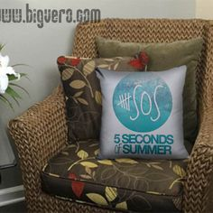 5Sos Logo Pillow Cover //Price: $12.00    #clothing #shirt #tshirt #tees #tee #graphictee #dtg #bigvero #OnSell #Trends #outfit #OutfitOutTheDay #OutfitDay